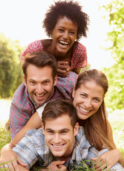 smiling group of friends