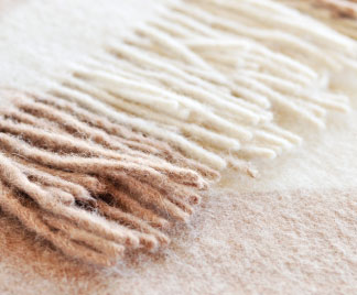 close-up of a blanket